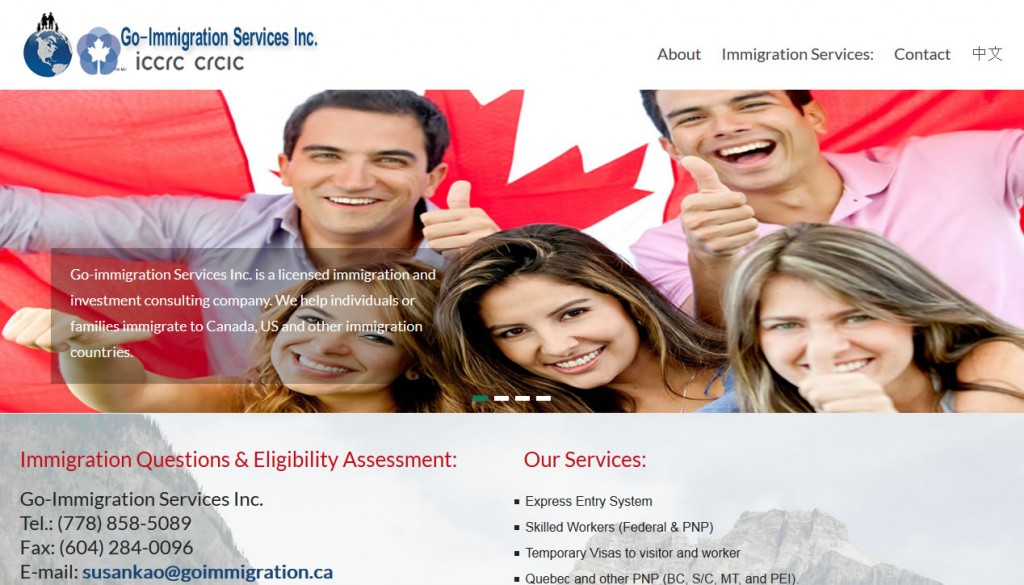 Portfolio – Immigration Services and Consultant's Website