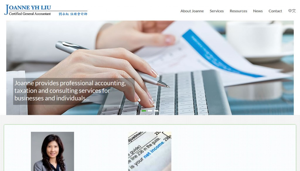 Portfolio – Accountant, Business Consultant's Website
